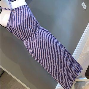 🎀ELLA MOSS Lavender Purple Stripe Halter Dress